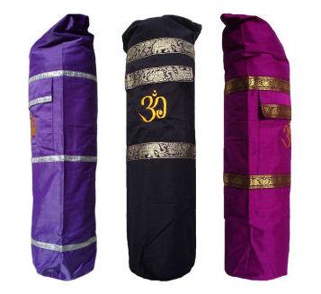 Hand made silk Yoga Bag