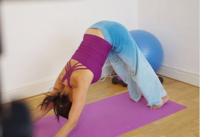 snip downward dog pose